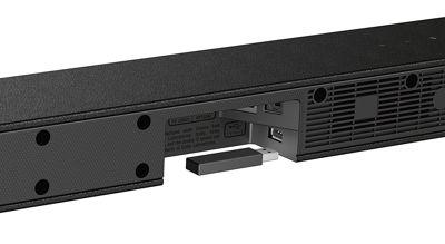 configurazione installazione soundbar sony nera