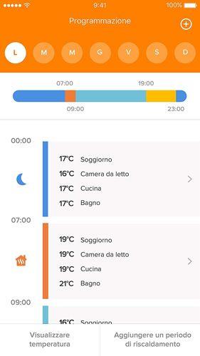 controllo tramite app termostato netatmo