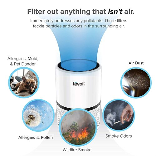 funzionalità purificatore d'aria levoit