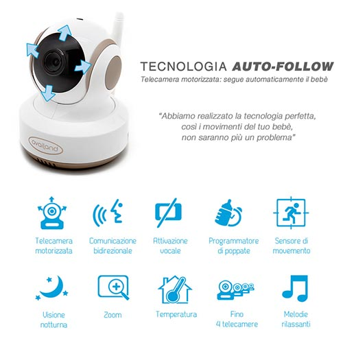 tecnologia auto follow baby monitor