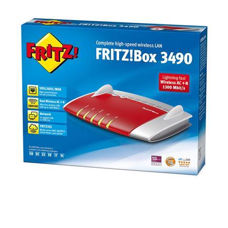 confezione del modem avm fritzbox 3490