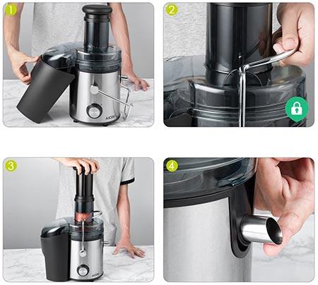 la praticità di un estrattore di succo