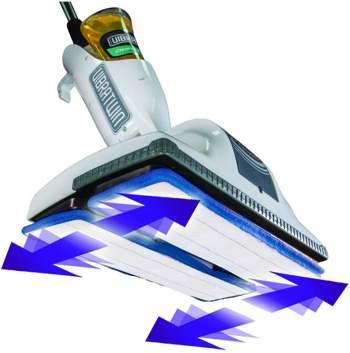 funzionamento di una lucidatrice per pavimenti