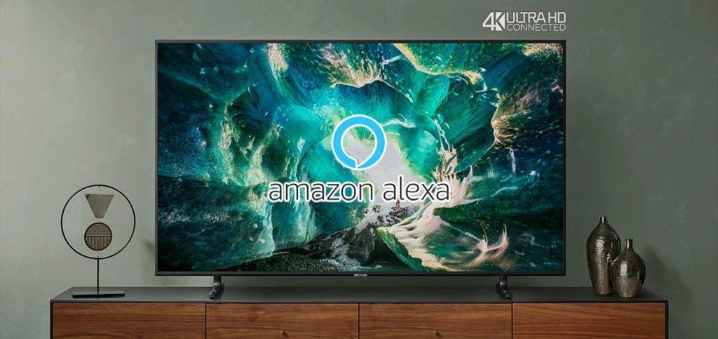 Esempio di un TV con integrazione Alexa