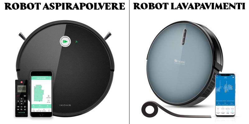 Differenza tra un robot aspirapolvere e lavapavimenti