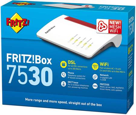 confezione del modem router AVM FRITZ!Box 7530