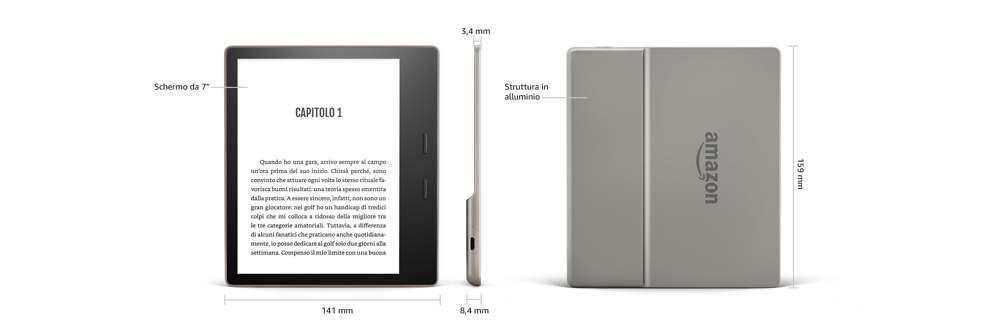 Design e materiali del Kindle Oasis