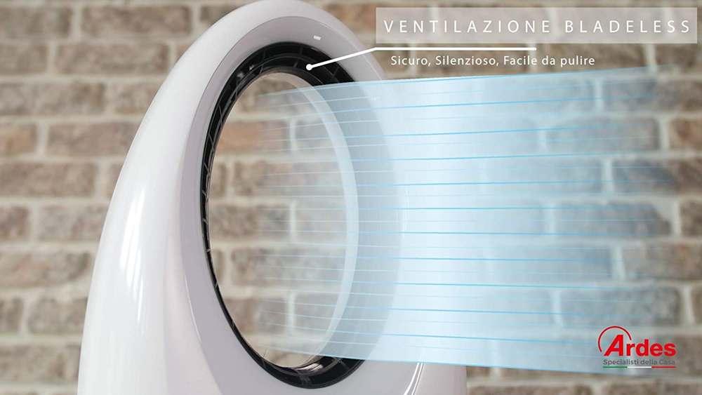 Funzionamento di un ventilatore senza pale