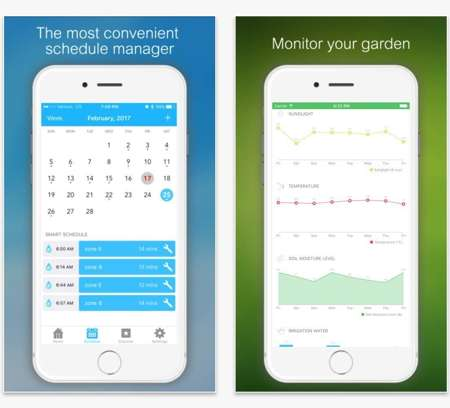 Interfaccia utente di Netro Sprinkler Smart Controller