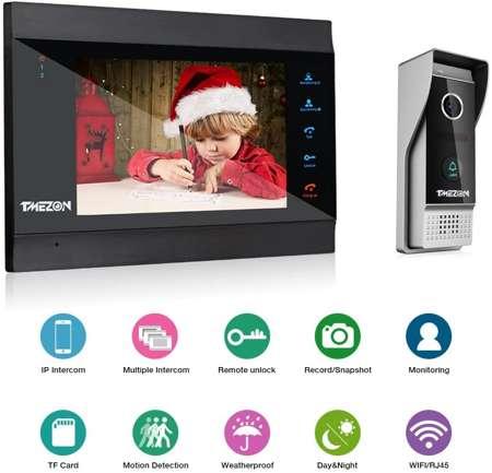 """TMEZON Videocitofono Wifi 7"""""""