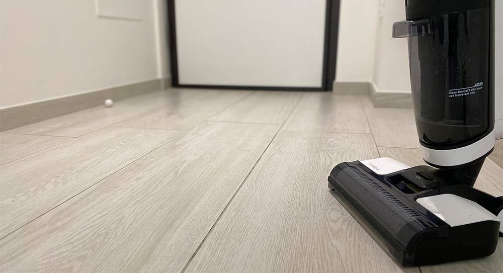 Risultato lavaggio del Tineco Floor One S3