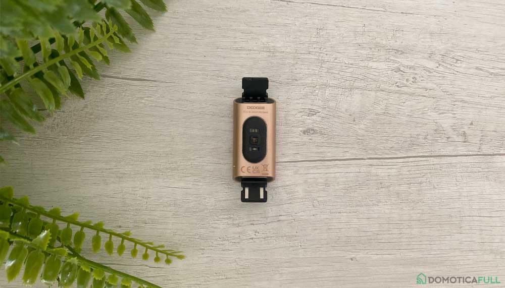 Retro del dispositivo e USB per la ricarica