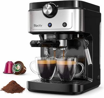 Sboly Macchina per Espresso con capsule