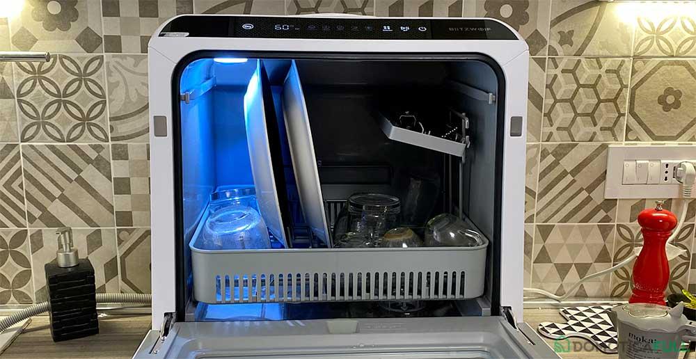Il sistema di carico della mini lavastoviglie blitzwolf