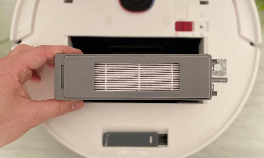 filtro hepa di un robot aspirapolvere