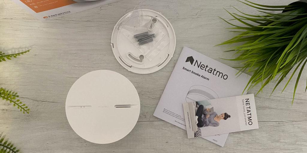 Unboxing del rilevatore di fumo Netatmo