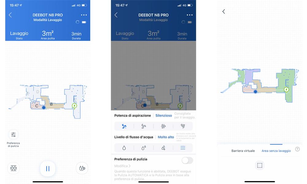 Alcune funzioni dell'app Ecovacs